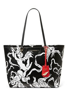 Ready to Go Cupid Print Tote