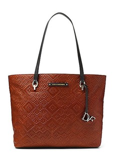 Ready To Go Weaved Leather Tote