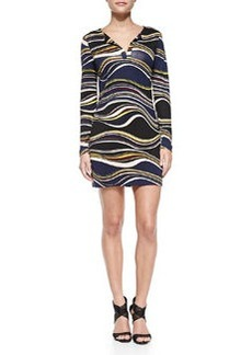 Reina Printed Silk Dress   Reina Printed Silk Dress