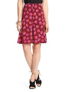 Rosalita Printed Silk Skirt