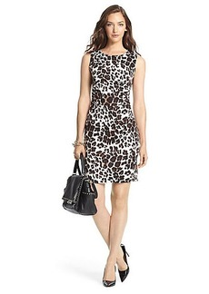 Selene Ruched Silk Jersey Sheath Dress