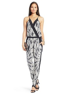 Shany Printed Silk Jumpsuit