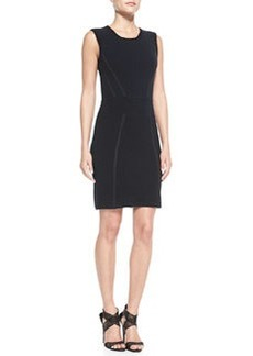 Sleeveless Body-Conscious Blend Dress   Sleeveless Body-Conscious Blend Dress