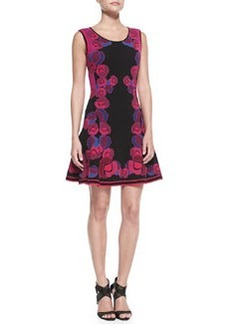 Sleeveless Floral Body-Conscious Dress   Sleeveless Floral Body-Conscious Dress