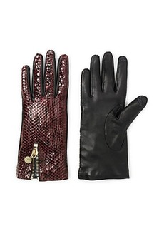 Snake Zip Gloves