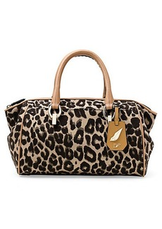 Sutra Leopard Jacquard Small Duffle Bag