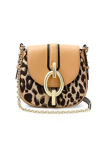 Sutra Mini Leopard Jacquard Crossbody Bag