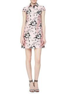 Toile-Pattern Sateen Dress   Toile-Pattern Sateen Dress