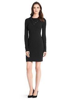 Turtle Cotton Knit Sheath Dress