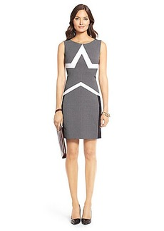 Tweed Woven Sheath Dress