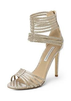 Ursula Metallic Strappy Heel