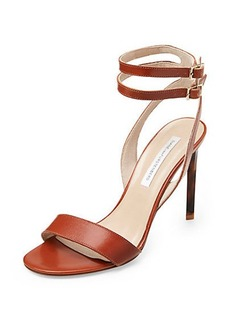 Vera Simple Strap Leather Heel