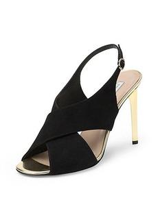 Vick Gold Heel Sandal