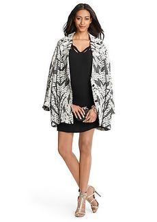Vivienne Printed Cocoon Coat