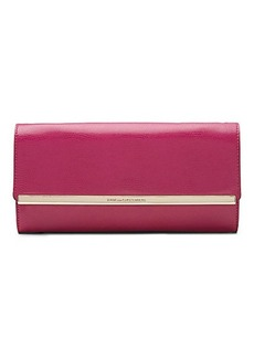 Voyage After 6 Embossed Leather Clutch