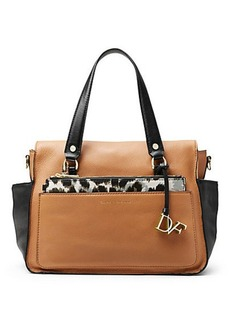 Voyage Colorblock Leather Satchel Bag