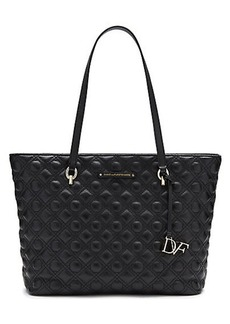 Voyage Ready To Go Caning Quilted Leather Tote
