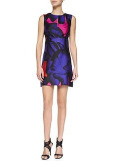 Yvette Floral-Print Sateen Dress   Yvette Floral-Print Sateen Dress