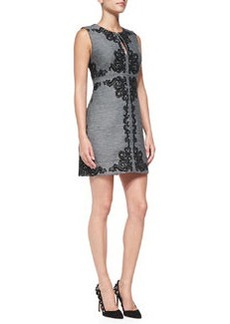 Yvette Sleeveless Appliqué Panel Dress   Yvette Sleeveless Appliqué Panel Dress