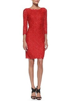 Zarita Boat-Neck Lace Dress   Zarita Boat-Neck Lace Dress