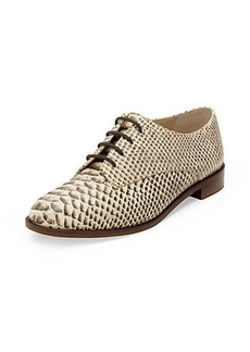 Ziggy Snake Embossed Oxford