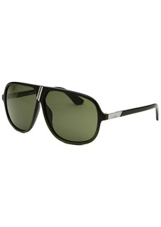 Diesel Aviator Black and Green Sunglasses