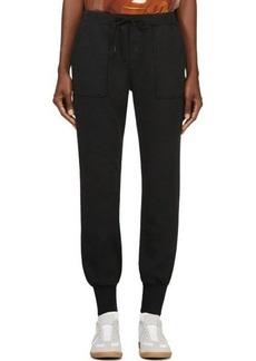 Diesel Black Cotton Garbadine Drawstring Sweatpants