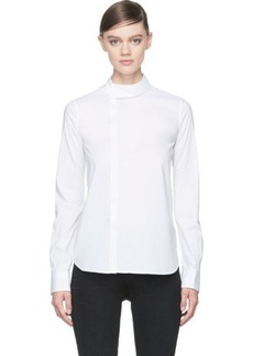 Diesel Black Gold White Cotton Poplin Corean Blouse