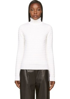 Diesel Black Gold White Munblack Ribbed Turtleneck Sweater