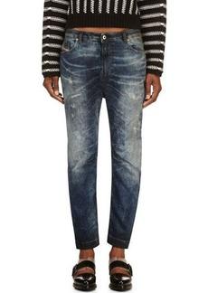 Diesel Blue Faded & Distressed Eazee-Ne Jogg Jeans
