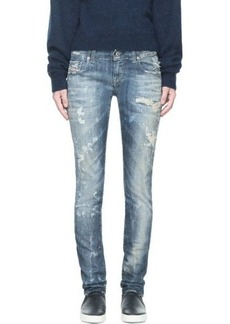 Diesel Blue Faded & Distressed Grupee L.32 Jeans