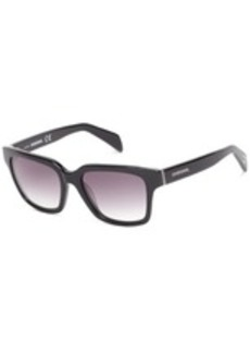 Diesel DL00735405C Wayfarer Sunglasses,Black,54 mm