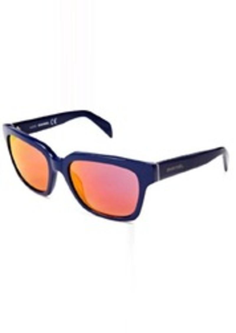 Diesel DL00735492C Wayfarer Sunglasses,Blue,54 mm