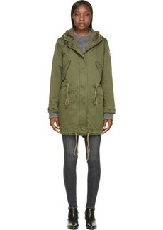 Diesel Green Heavy Cotton Layered W-Nebull-I Military Jacket