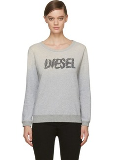 Diesel Grey Feather Logo F-Dial Sweatshirt
