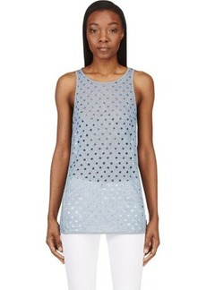 Diesel Heather Blue Perforated Tank Top