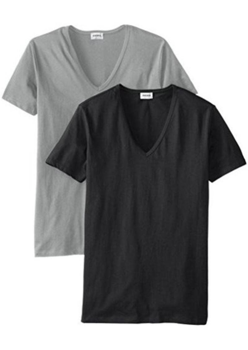 Diesel diesel men 39 s dave 2 pack cotton deep v neck t shirt for Mens diesel v neck t shirts