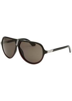 Diesel Women's Aviator Black and Dark Burgundy Sunglasses