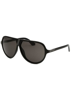 Diesel Women's Aviator Black and Grey Sunglasses