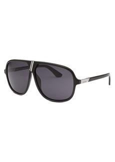 Diesel Women's Aviator Black and Navy Blue Sunglasses