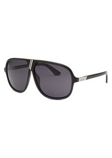 Diesel Women's Aviator Black and Navy Blue Sunglasses