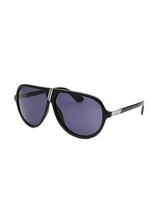 Diesel Women's Aviator Black Sunglasses