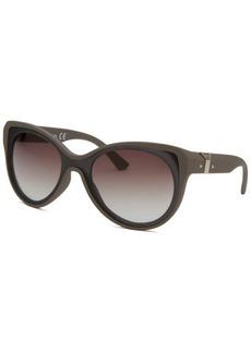 Diesel Women's Cat Eye Black and Earl Grey Sunglasses