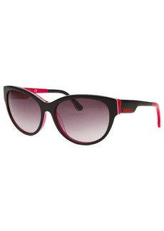 Diesel Women's Cay Eye Black and Pink Sunglasses