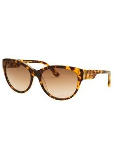 Diesel Women's Cay Eye Havana and Lime Green Sunglasses