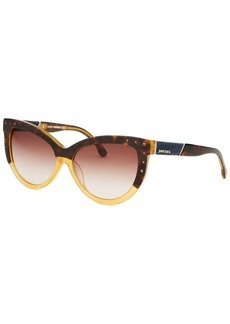 Diesel Women's Claudia Cat Eye Topaz Sunglasses