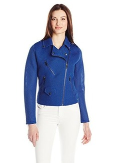 Diesel Women's G-Lupus-B Waffle Textured Double Jersey Jacket, Navy, Small