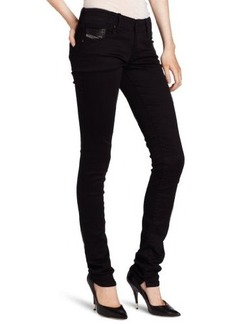 Diesel Women's Grupee Super Skinny Leg Jean 0800R in Black