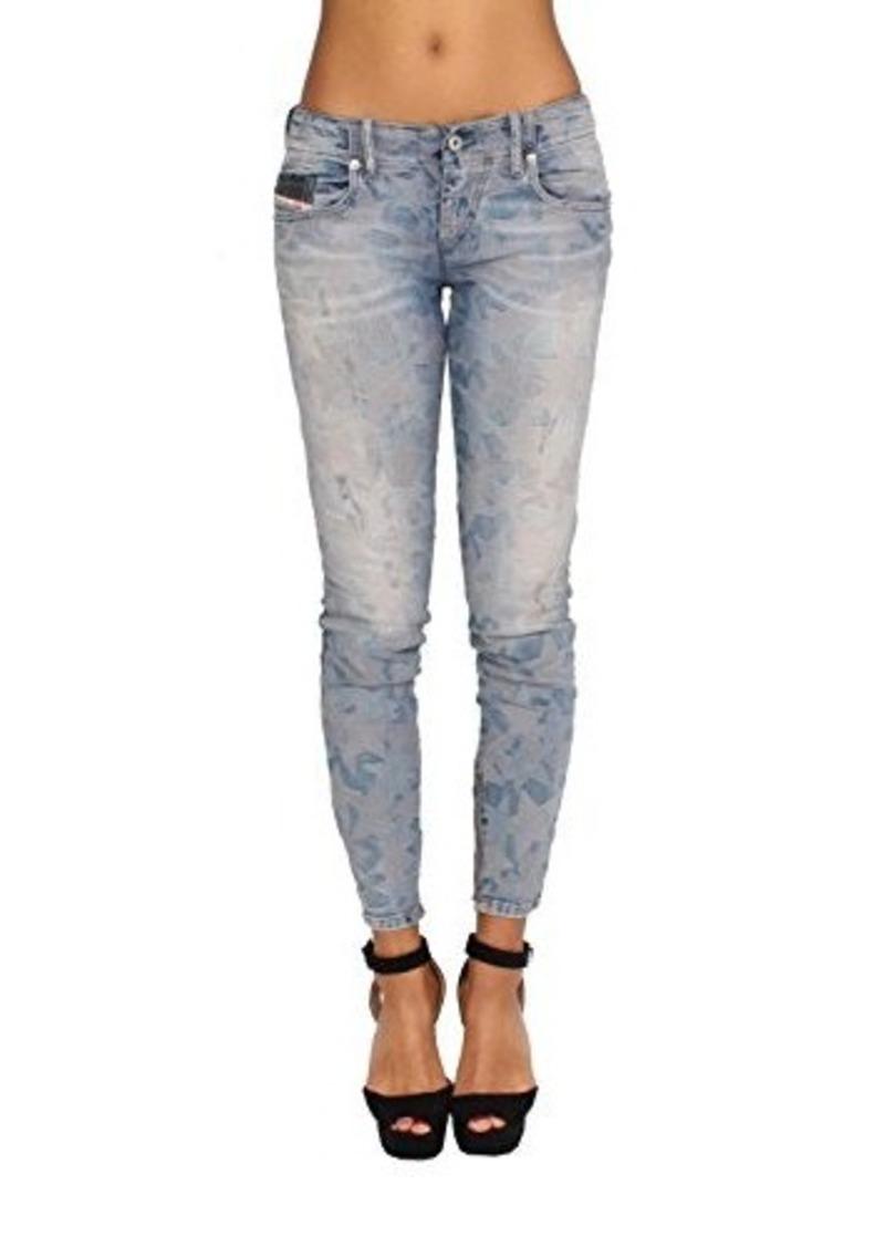 Diesel Women's Grupee-Zip Super Slim Skinny Leg Jean 0606M, Indigo, 28x32