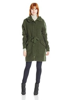 Diesel Women's M-Ginger Hooded Front-Zip Wool Coat